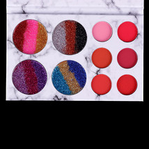 10 Colors Eye Shadow Palette Makeup Lips Shimmer Colors Highly Pigmented... - $12.31