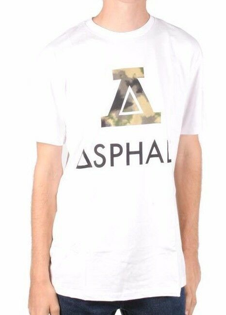Asphalt Yacht Club Mens White Green A Boundary T-Shirt NWT