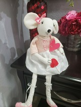 "Valentines Day girl Mouse Doll Shelf Sitter Doll Home Decor 20"" - $26.99"