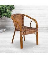 Flash Furniture Cadiz Series Dark Red Bamboo-Aluminum Indoor-Outdoor Res... - $84.20