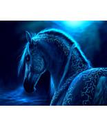 Blue horse thumbtall