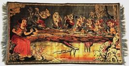 Rare 1930s Disney Snow White Seven Dwarfs Velveteen Tapestry Rug Made in... - $250.00
