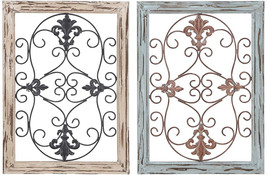 Deco 79 Wood Metal Wall Panel, 2 Assorted, 16 By 22' - $100.30