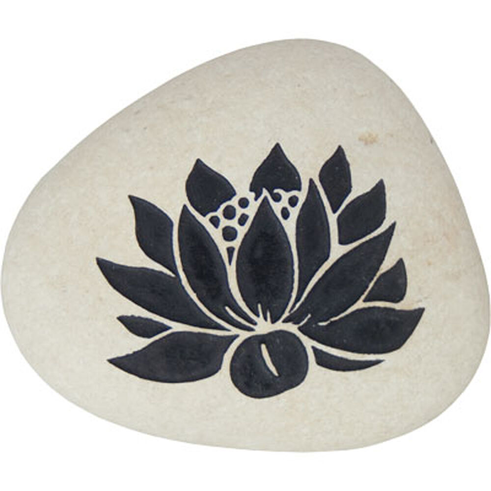 Kheops International - Carved River Stone Large Lotus - $6.60