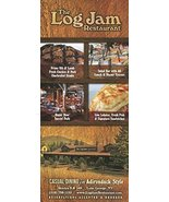 THE LOG JAM RESTAURANT /LAKE GEORGE, NEW YORK /SINGULAR BROCHURE [Pamphl... - $4.95
