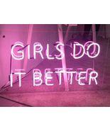 "New Girls Do It Better Home Decor Acrylic Back Neon Light Sign 14"" Fast ... - $60.00"