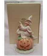 Lenox Halloween Witch's Jolly Pumpkin Figurine  New in Box - $34.60