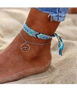 2PCS Boho Turquoise Sea Wave Anklet Ankle Bracelet - $14.36+