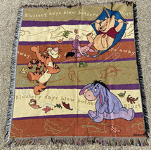 """Disney Winnie The Pooh Blustery Days Blow Bothers Tapestry Throw 48"""" x 60"""" - $20.85"""