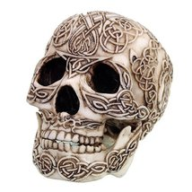 Celtic Knotwork Collectible Skull Figurine Desktop Decor - ₨1,510.50 INR