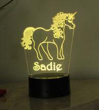Personalized Unicorn Lamp Night light USB or Wall Plug In image 11