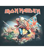 "Iron Maiden ""The Trooper"" Album Cover Black T-Shirt Reprint Mens L Metal... - $27.60"