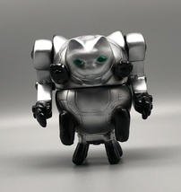 2-Sided Silver Mecha Cat image 5