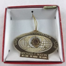 Nations Treasures Michael Mason Governor Florida Brass Metal Souvenir Ornament - $12.00