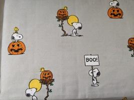Berkshire Blanket and Home Snoopy Woodstock Pumpkins Gray Sheet Set Full - $35.00