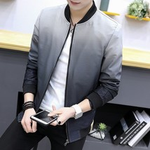 2018 New Fashion Autumn and Winter Men's Gradient Jacket Youth Slim Thin... - $36.72