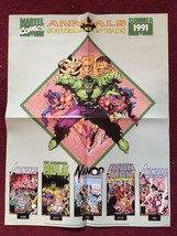 "Marvel 1991 Annuals Subterranean Wars Summer 1991 Dealer Poster 17 x 22"" HULK - $8.99"