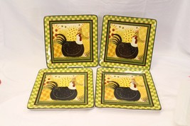 Certified International Oh Happy Day Dan Dipaolo Dinner Plates Lot of 4 Lot B - $84.27