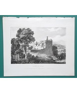 IRELAND Castle of Arran Donegal County - 1830 Lithograph Print - $12.96