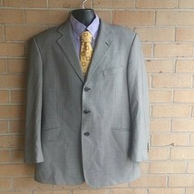 Arnold Brant Mens Gray Wool Three Button Jacket Sport Coat 44R - $37.13