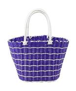 Black Temptation Colorful Woven Shopping Basket Woven Tote Bag Shopping ... - $26.33