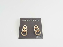 Anne Klein Gold Tone Multi Circle Earrings - New - $14.85