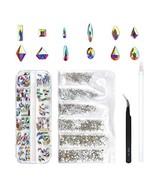 120 Pcs Multi Shapes Glass Crystal AB Rhinestones For Nail Art Craft, Mi... - $10.80