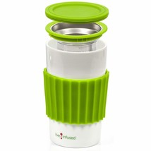 Live Infused Single Cup Loose Leaf Tea Brewing System, 16oz Ceramic Mug ... - €11,54 EUR