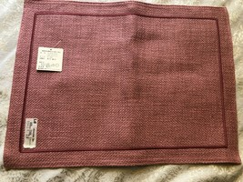 Lappe Dahnke West Germany magenta Quilted Pattern Placemats-4 NEW w/tags... - $13.44