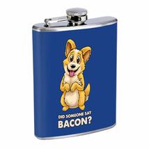 Corgi Bacon Em1 Flask 8oz Stainless Steel Hip Drinking Whiskey - $13.81