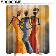 women African shower curtain fabric polyester bathroom shower curtain waterproof - $35.11