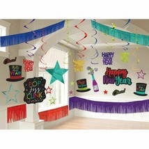 New Years Eve Giant Room Decorating Kit 28 Piece Jewel Tone Colors - $20.99