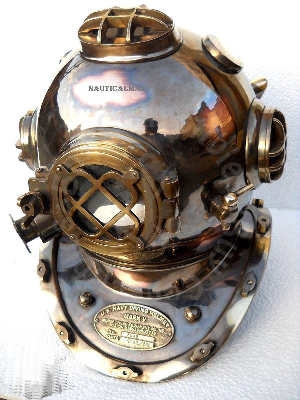 Antique US Navy Mark V Vintage Divers Diving Helmet Full
