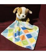 Little Miracles Sweet Snuggle Puppy Dog Orange Blue Plush Security Blank... - $44.55