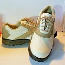 Women's Foot Joy Green Joy Golf Shoes White Brown 8 1/2 M #48401 - $17.56