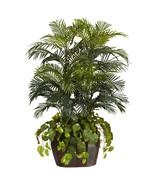 4.5' Double Areca w/Vase & Pothos Silk Plant - $208.15