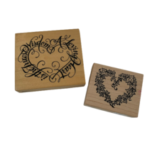 Rubber Stamps Set of 2 Hearts Made in USA K-1466 & G-1251 PSX   - $19.99