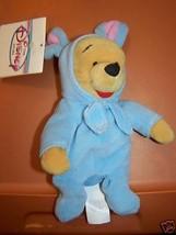 Disney Store 1999 Easter Bunny Rabbit Winnie the Pooh Bear Bean Bag Plus... - $15.00