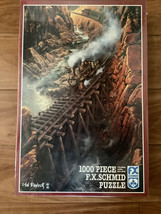 "F.X. Schmid ""Black Canyon Express"" Train Jigsaw Puzzle 1000 pc. Ted Blaylock NEW - $18.70"