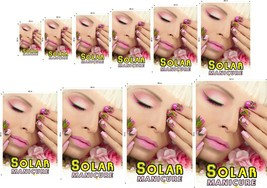 Solar V Perforated 70/30 See Through Window Poster Manicure Nail Salon Vertical image 1