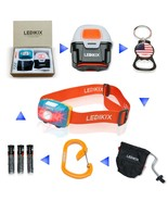 Camping Cycling LED Headlamp Flashlight Kit HandsFree Comfortable White ... - $26.99