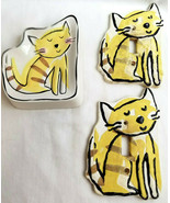 Tenny Paws Kitty Cat Soap Trinket Dish & 2 Switch Plate Light Covers Yel... - $19.99