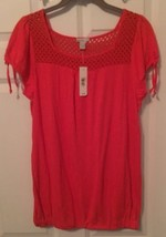 NWT PINK BLOUSE BY OLD NAVY SIZE LARGE - $9.05