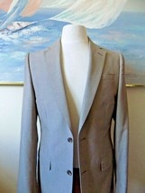 J FERRAR SLIM Men's 2 piece SUIT Light Gray Tone SZ 38 Long SLIM FIT 30W... - $45.47