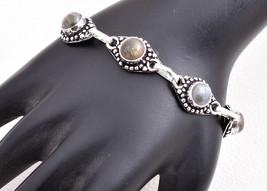 925 Sterling Silver Charm Bracelet Labradorite Gemstone BGS-1330 Women F... - $17.45