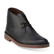 Clarks Bushacre 2 Men's Boots Black Leather 26112315 - $67.95