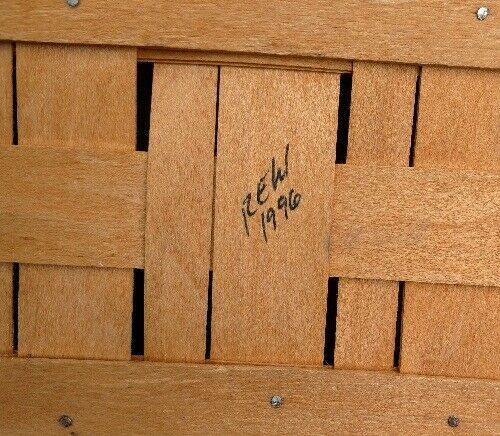 "Longaberger 1996 Medium Market Basket Double Handles No Liner 19"" X12"" X 6 1/2"""