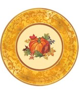 "Bountiful Holiday 8 Ct 7"" Dessert Plates Paper Fall Thanksgiving - $5.39"