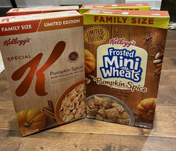 4 Kelloggs Special K Cereal Pumpkin Spice & Frosted Mini Wheats Limited Edition - $38.52