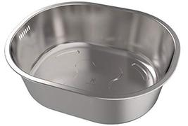Stainless Steel Kitchen Dish Wash Bowl Basket 8.4Quarts Sink Tub